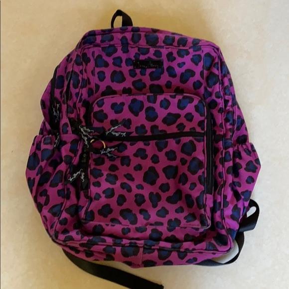 Vera Bradley campus backpack Africanviolet cheetah